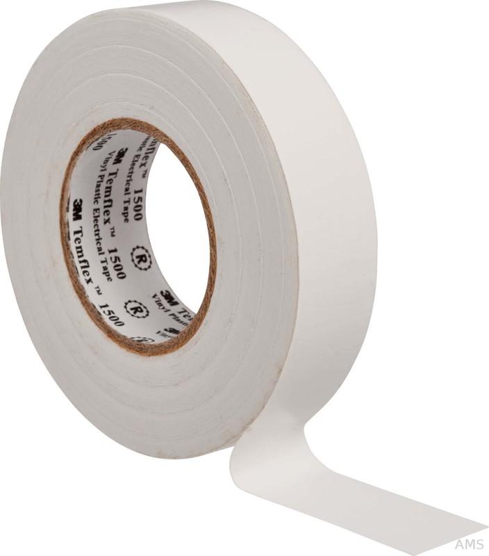 3M Elektroisolierband 15mm x25m cremeweiß (ws) TemFlex 1500 15x25ws (