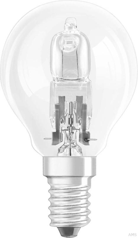 OSRAM Halogen-Glühlampe Halogen Energy Saver Classic P warmweiß Tropfenform E14 28 W entspricht herkömmlichen 33 W