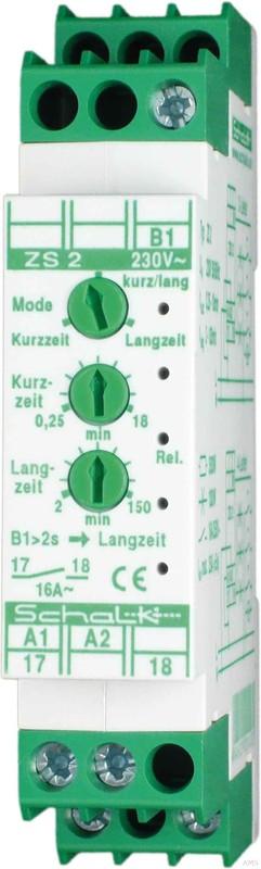 Schalk Lichtzeit-Impulsschalter mit 3 Modi 1S 16A ZS 2