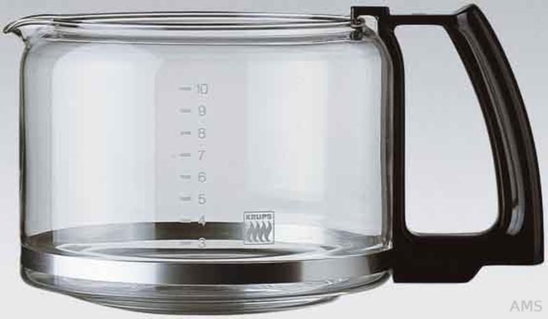 Krups F034-42 Glaskrug schwarz 10 Tassen
