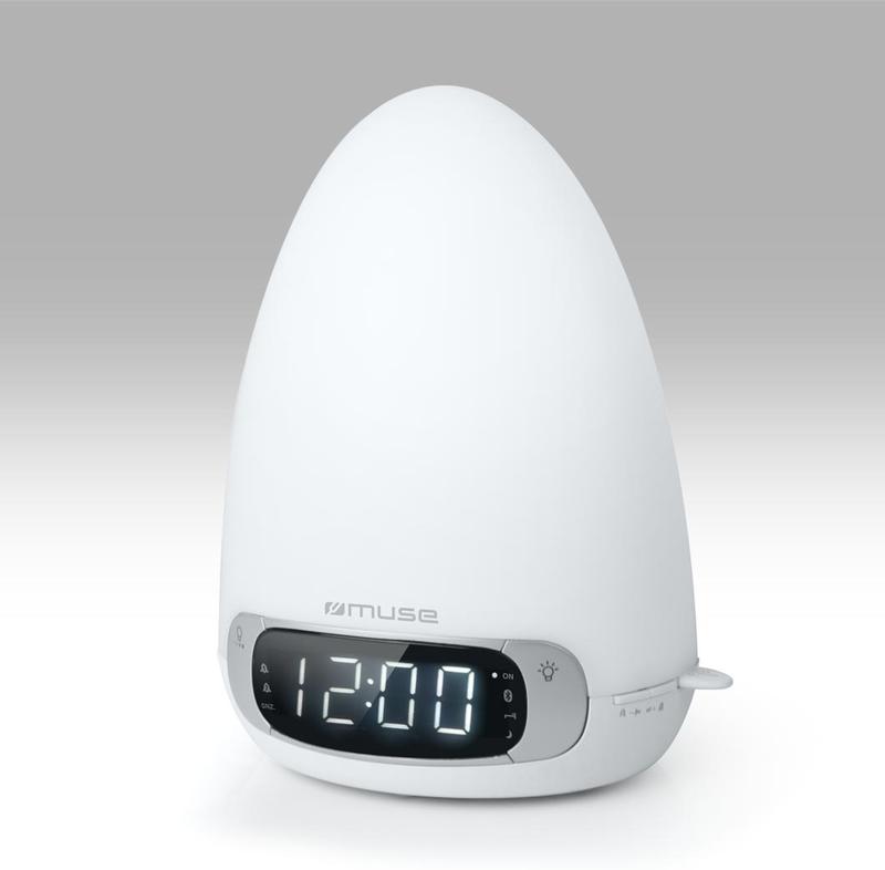Uhrenradio mit Licht und USB-Anschluss