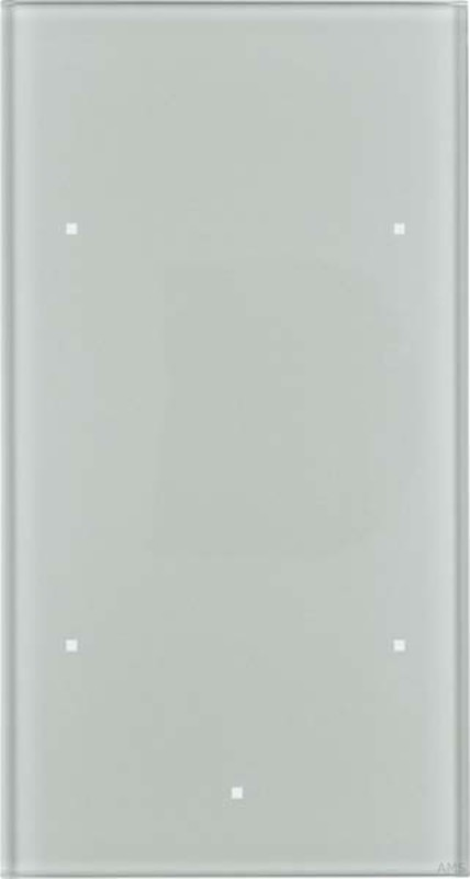 berker glas sensor 2fach ts aluminium 169207. Black Bedroom Furniture Sets. Home Design Ideas