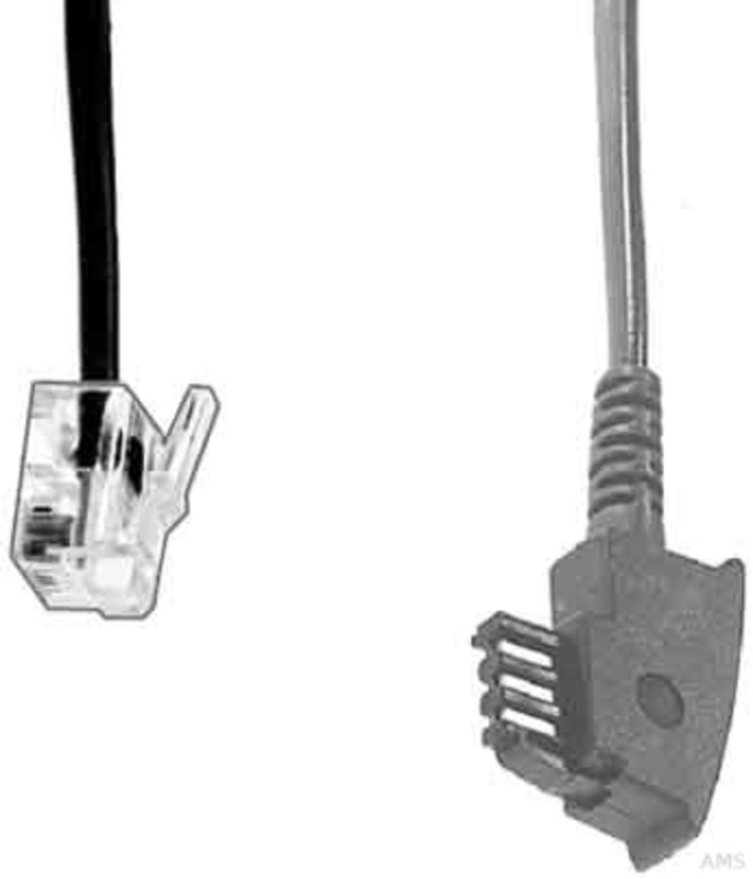 e p elektrik telefon anschlu kabel 6 0 m t 36. Black Bedroom Furniture Sets. Home Design Ideas