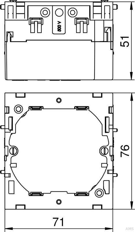 obo bettermann ger teeinbaudose 1fach 71gd6. Black Bedroom Furniture Sets. Home Design Ideas