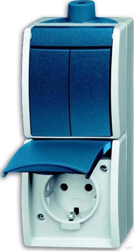 busch jaeger kombination steckdose se schalter 2601 5. Black Bedroom Furniture Sets. Home Design Ideas