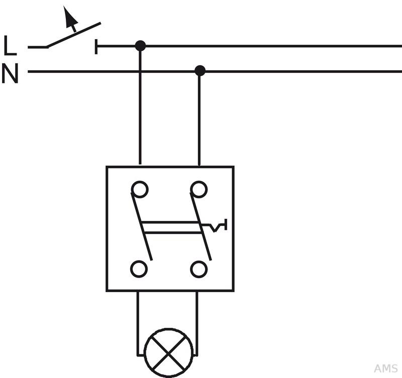 Busch-Jaeger Ausschalter 2-polig Wipp.-Wechselschal. 2601/2 AP