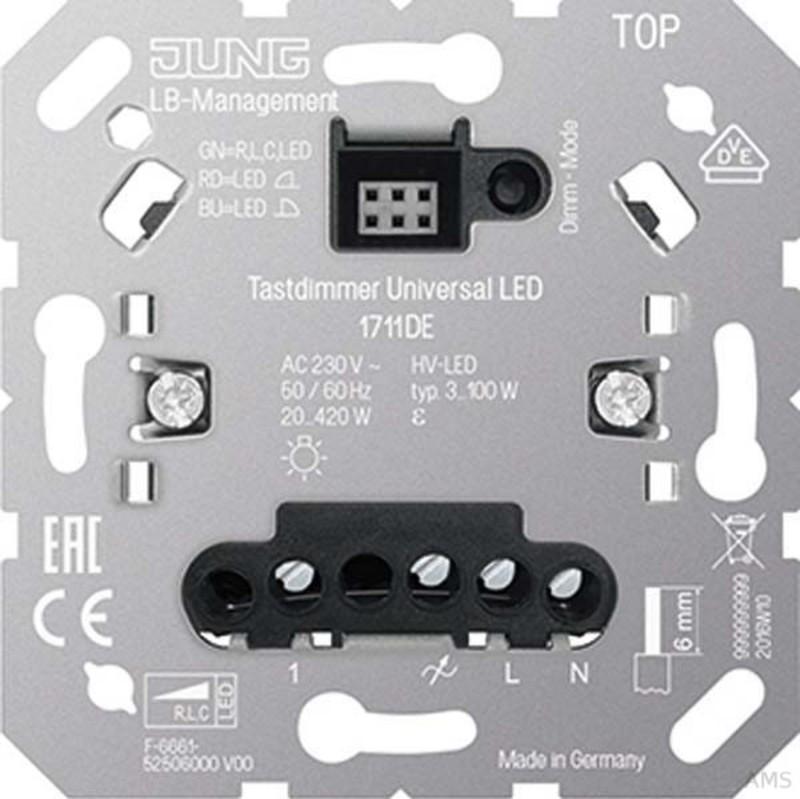 Jung LED-Tastdimmer Universal 1711DE