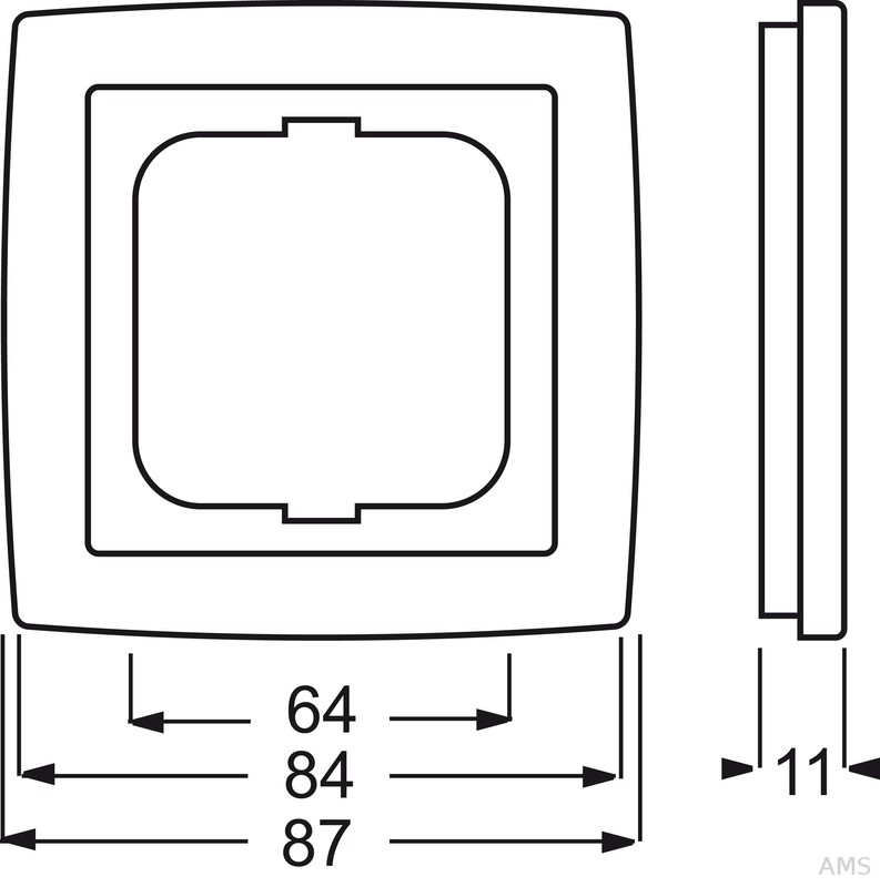 busch jaeger abdeckrahmen 1fach rahmen chrom 1721 80g. Black Bedroom Furniture Sets. Home Design Ideas