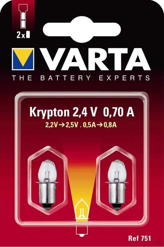 Varta Kryptonlampe 2,4V 751 Bli.2