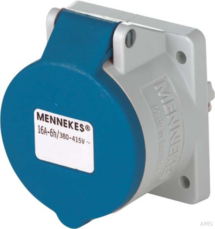 Mennekes Wanddose TwinCONTACT 1341 IP44 CEE-Steckdosen Kunststoff Wanddose