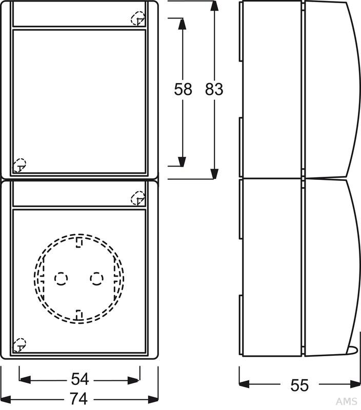 busch jaeger kombination steckdose we schalter 2601 6 20 ew 53. Black Bedroom Furniture Sets. Home Design Ideas