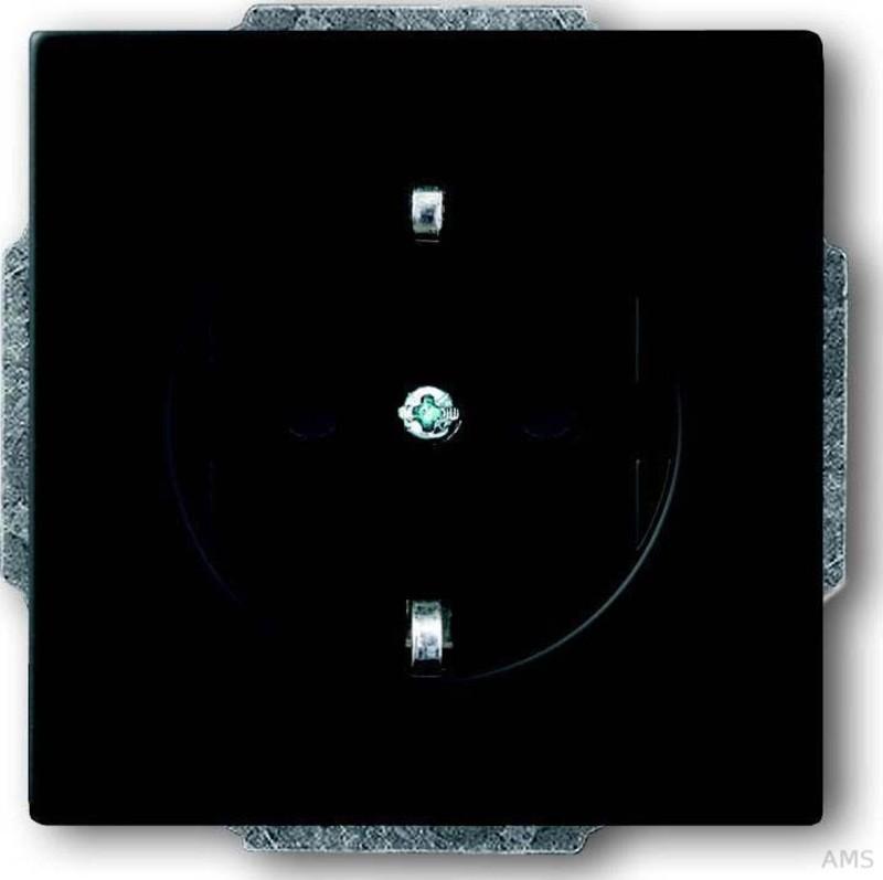 busch jaeger steckdosen einsatz schwarz matt 20 euc 885. Black Bedroom Furniture Sets. Home Design Ideas