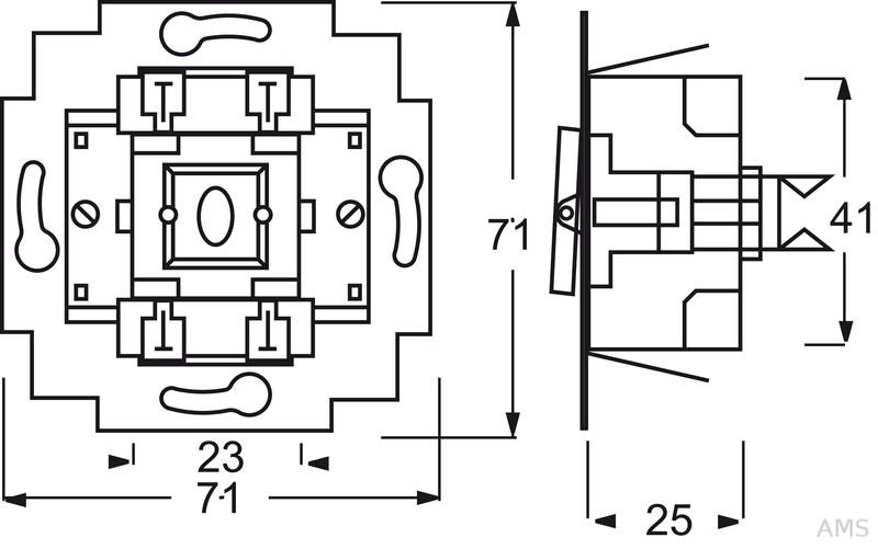 Wechselschalter Mit Beleuchtung | Busch Jaeger Wechselschalter Einsatz 10a Mit Beleuchtung 2000 6 Usgl