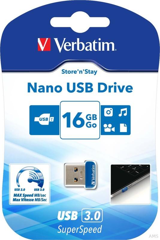 Verbatim USB 3.0 Stick 16GB, Nano StorenStay