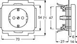 Busch-Jaeger Steckdosen-Einsatz studioweiß (ws) mit Steckanschluss 20 EUC-24