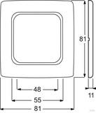 Busch-Jaeger Rahmen 1-fach cremeweiß (ws) für Kanalabdeckungen 2511-212K-102