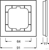 Busch-Jaeger Rahmen 1fach, schwarz 1721-281