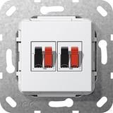 Gira 569303 Lautsprecher Anschluss 2fach Einsatz Reinweiß