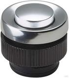 Grothe Klingeltaster rund 11,5mm Knopf alu, Hülse aluminium PROTACT 210 AL