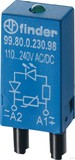 Finder LED grün +Varis110.. 220VACDC für Fas. 94.82/83/84 99.80.0.230.98