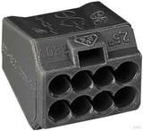 WAGO Verb. dosenklemme dunkelgrau 8x1-2,5qmm 273-103 (1 Stück)