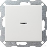 Gira 013603 Tastschalter Kontroll Wechsel System 55 Reinweiß glänzend