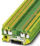 Phoenix Contact Schutzleiter-Reihenklemme 5,2 mm, grün-gelb PT 2,5-QUATTRO-PE