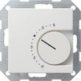 Gira 039003 Raumtemperaturregler 230 V mit Öffner System 55 Reinweiß