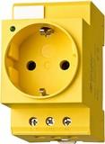Finder Reiheneinbausteckdose 16A 250VAC, gelb 07.98.00
