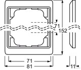 Busch-Jaeger Rahmen 2-fach Titan senkrecht 1732 KA-266