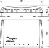 Telegärtner Mini-Verteiler leer MPD8 apws TH35 H02000A0103