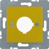 Berker Zentralplatte ge für Melde-/Befehlsger. 143207