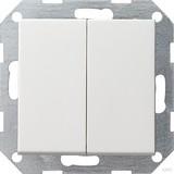Gira 012503 Tastschalter Serien System 55 Reinweiß glänzend