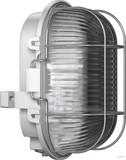 RZB Zimmermann Kunststoff-Ovalleuchte grau A60 60W 50500.889.1