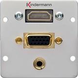 Kindermann Anschlussblende VGA,Audio 3,5mm Kli 7441000586