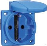 Bals Schutzk. Anbausteckdose 16A IP44 blau 71094