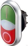 Eaton / Möller Doppeldrucktaste beleuch.,beschriftet M22-DDL-GR-X1/X0