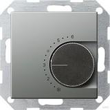 Gira 039020 Raumtemperaturregler 230 V mit Öffner E22 Edelstahl