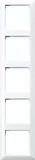 Jung Rahmen 5-fach alpinweiß (aws) waage/senkrecht AS 585 WW