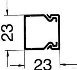 Rehau BE-DIN Kanalunt./-oberteil 25x25 sgr 17242431100 (2 Meter)