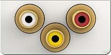 Kindermann Anschlussblende Kon. Design click,Video/Audio LR 7456000530