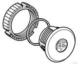 Schneider Electric Blindstopfen schwarz D=22 PA ZB2SZ3