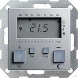 Gira 237026 Raumtemperaturregler 230 V mit Uhr System 55 Farbe Alu
