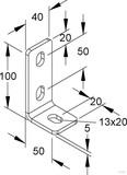 Niedax Wandanschlusswinkel für Boden/Deckenbef. WWA 100