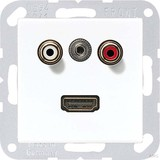 Jung Multimedia-Anschluss alpinweiß (aws) Cinch/Klinke3,5/HDMI MA A 1082 WW