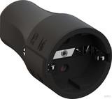 Bachmann Montagekupplung CEE 7/3, 2-polig , schwarz 960.103