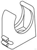 Kleinhuis RO-Clip-Rohrschelle lichtgrau M20 796.130 (100 Stück)