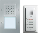 Gira 049543 Einfamilienhaus Paket Audio Türkommunikation Farbe Alu