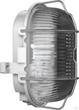 RZB Zimmermann Kunststoff-Ovalleuchte grau A60 60W 50500.009.1