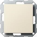 Gira 026801 Blindabdeckung mit Tragring System 55 Cremeweiß glänzend